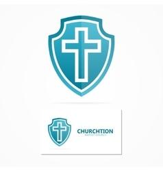 Church and religion cross logo vector image
