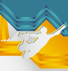 abstract sports vector image