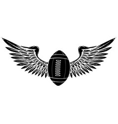 american football balloon with wings black vector image