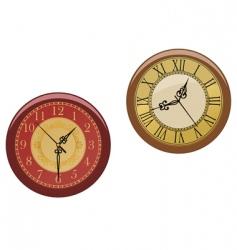 ancient clocks vector image