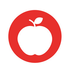 Apple fresh isolated icon vector