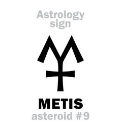 astrology asteroid metis vector image