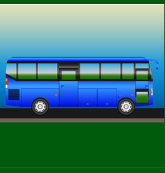 Autobus of intercity bus on the highway vector