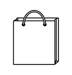 bag gift shopping design outline vector image