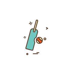 bat ball icon design vector image