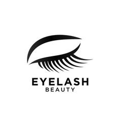 Beautiful eyelash symbol template vector