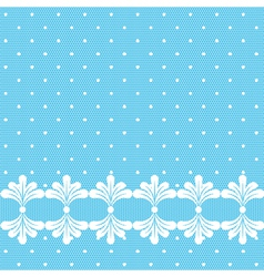 Blue lacy polka dot background vector