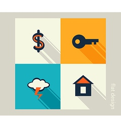 Business icon set finance marketing e-commerce vector