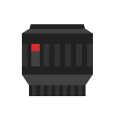 Camera photo lens icon vector