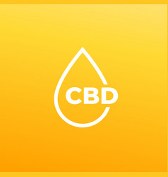 Cbd oil drop icon vector