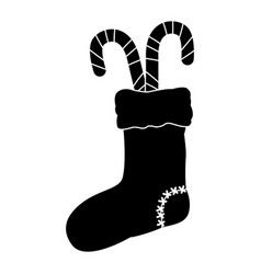 Christmas boot with candies vector