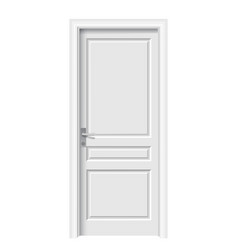 closed white door in a white room vector image