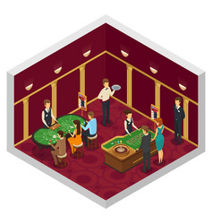colored casino isometric interior vector image