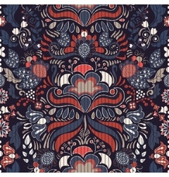 Colorful seamless floral pattern vector