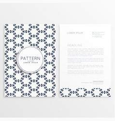 Creative letterhead design with front and back vector