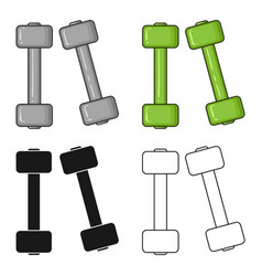 dumbbells icon in cartoon style isolated on white vector image