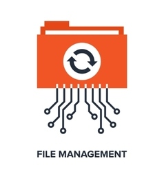 file management vector image