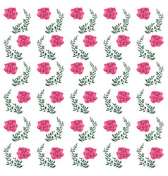 flowers decorative background vector image