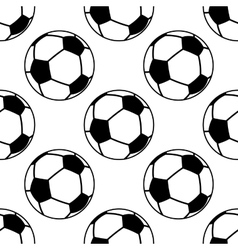Football or soccer ball seamless pattern vector image