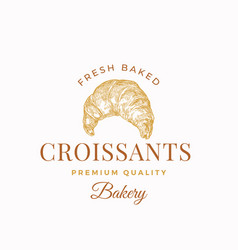 fresh baked crissants abstract sign symbol vector image