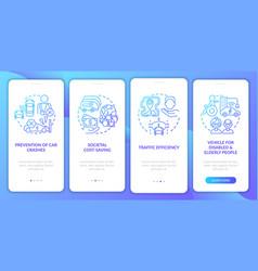 Future transport potential onboarding mobile app vector