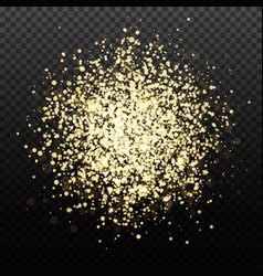 gold glitter backdrop transparent falling vector image