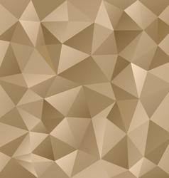 Gold metal beige triangular pattern background vector