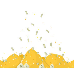 golden piles vector image