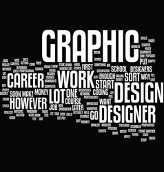 Graphic designer career text background word vector