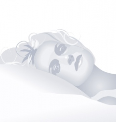 greylady vector image