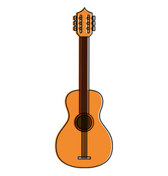 guitar instrument isolated icon vector image