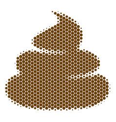 Halftone dot crap icon vector