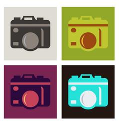 hanging vintage camera vector image
