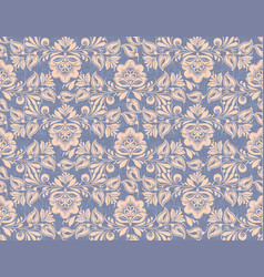 Hohloma style seamless pattern background vector