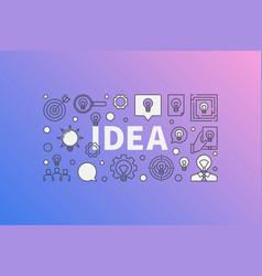 Idea modern vector