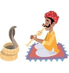 Indian snake charmer vector