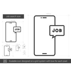 Job search line icon vector
