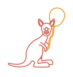 kangaroo with balloon icon vector image