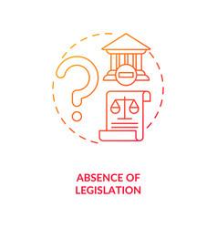 Legislation absence concept icon vector