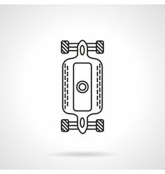 Longboard flat line design icon vector