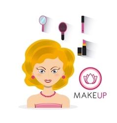 make up set flat icons vector image