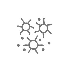 microbes bacteria viruses line icon vector image