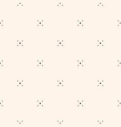 Minimalist pattern with tiny diamond shapes vector