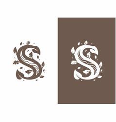 Modern professional sign logo s letter vector