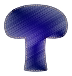 Mushroom simple sign vector