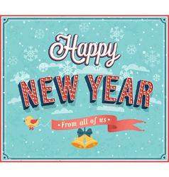 New year typographic design vector image