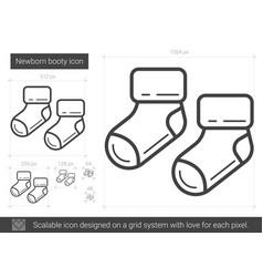 Newborn booty line icon vector