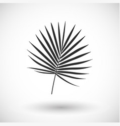 palm branch flat icon vector image