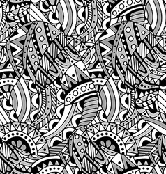 pattern with ethnic elements vector image