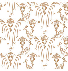 peacock minimal style seamless pattern vector image